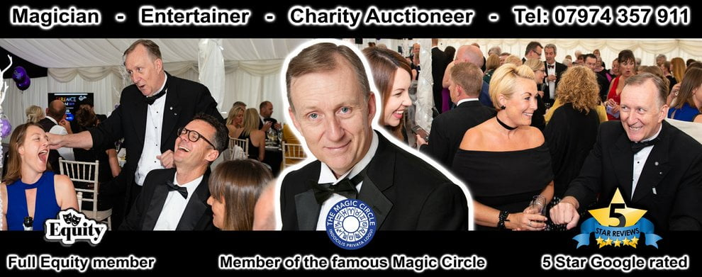 Magic OZ Magician London Entertainer and Charity Auctioneer